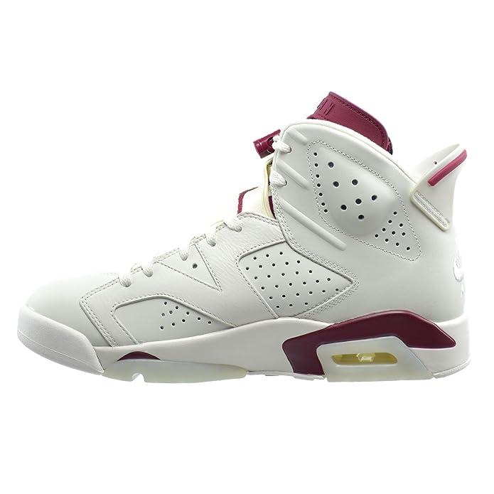 online retailer d253b b1adb Amazon.com   Jordan Air 6 Retro Men s Basketball Shoes Off White New Maroon  384664-116   Basketball