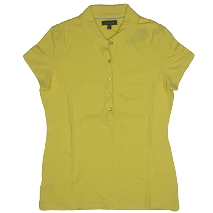 Image Unavailable. Image not available for. Color  The Limited Womens Polo  Shirt Large Yellow ... 17bfbd437