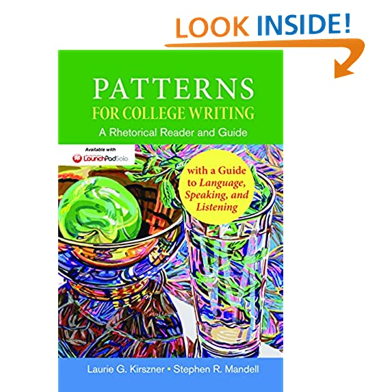 Patterns For College Writing 40th Edition Amazon Amazing Patterns For College Writing 13th Edition