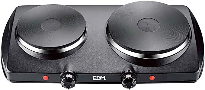 EDM 07659 Cocina Eléctrica con 2 Fuego, 1400 W, Negro ...