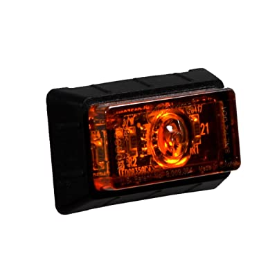"Maxxima M09350Y 1.50"" P2 Rectangular Amber Clearance Marker Light, 12.8 VDC: Automotive"