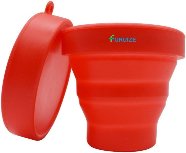 Taza de Esterilización Plegable Furuize. Esterilizador de Copas Menstruales. Silicona de Grado Médico. Color Rojo