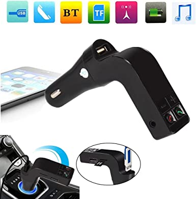 Eachbid Bluetooth FM Kit de coche, transmisor FM inalámbrico para coche con mano libre llamada música Play Safe USB coche carga para iPhone, Samsung y otros Smartphone, Tablet: Amazon.es: Electrónica