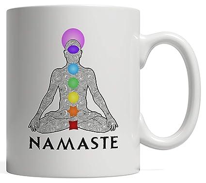 Amazon.com: Namaste Gift, Yoga Pose with Chakra Mug | Yogis ...