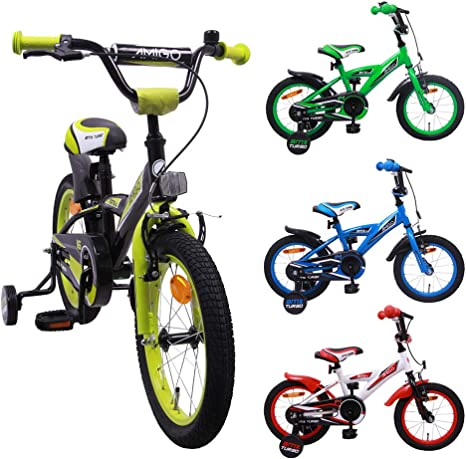 AMIGO BMX Turbo - Bicicleta infantil de 14 pulgadas para niños con ...