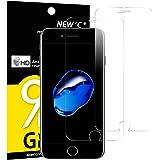 Pack de 2 Verre Trempé iPhone 7 PLUS / iPhone 8 Plus, NEWC® Film Protection en Verre trempé écran Protecteur - ANTI RAYURES -Ultra Résistant Dureté 9H Glass Screen Protector pour iPhone 7 Plus