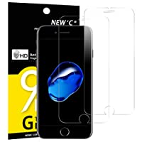 Pack de 2 Verre Trempé iPhone 7 PLUS / iPhone 8 Plus, NEWC® Film Protection en Verre trempé écran Protecteur - ANTI RAYURES -Ultra Résistant Dureté 9H Glass Screen Protector pour iPhone 7 Plus