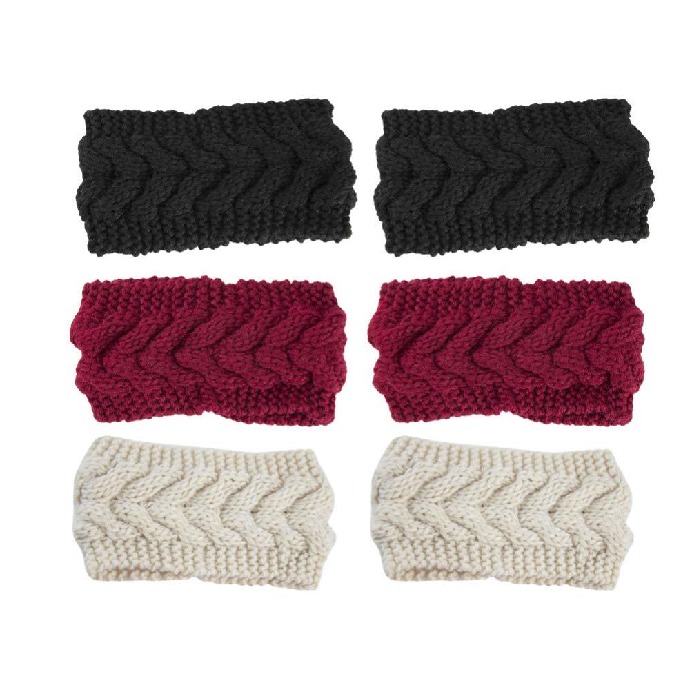 Minkissy 6pcs Warm Knitted...