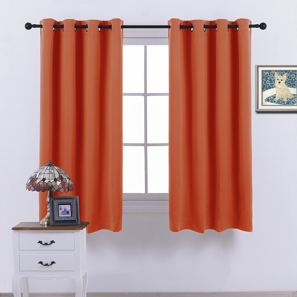Nicetown Blackout Curtains & Drapes Orange Noise reduction Draperies for Living Room