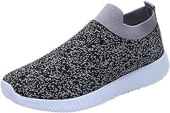 Zapatillas de running para mujer, planas, transpirables, de malla ...