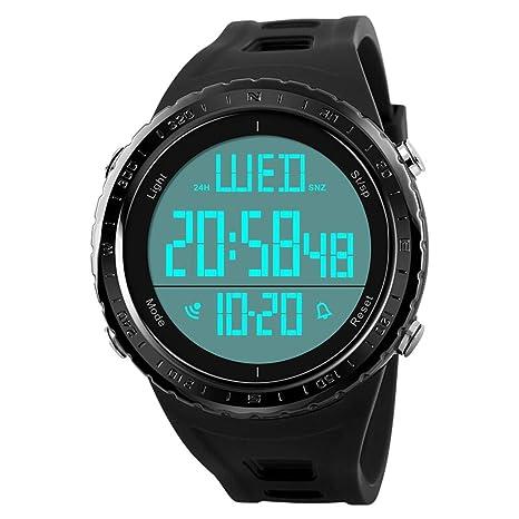 Reloj Deportivo Digital Para Hombres, Pantalla LED Impermeable, Cara Grande, Reloj Militar Y