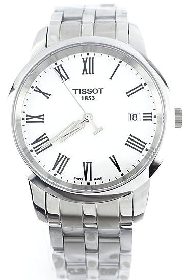 t0334101101301 Reloj Tissot Hombre Dream, acero inoxidable, correa de acero inoxidable, esfera blanca