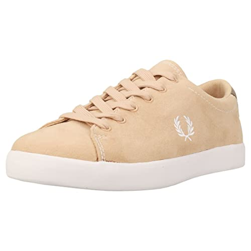 Fred Perry Mujer Natural Marrón Lottie Microfibre Zapatillas: Amazon.es: Zapatos y complementos