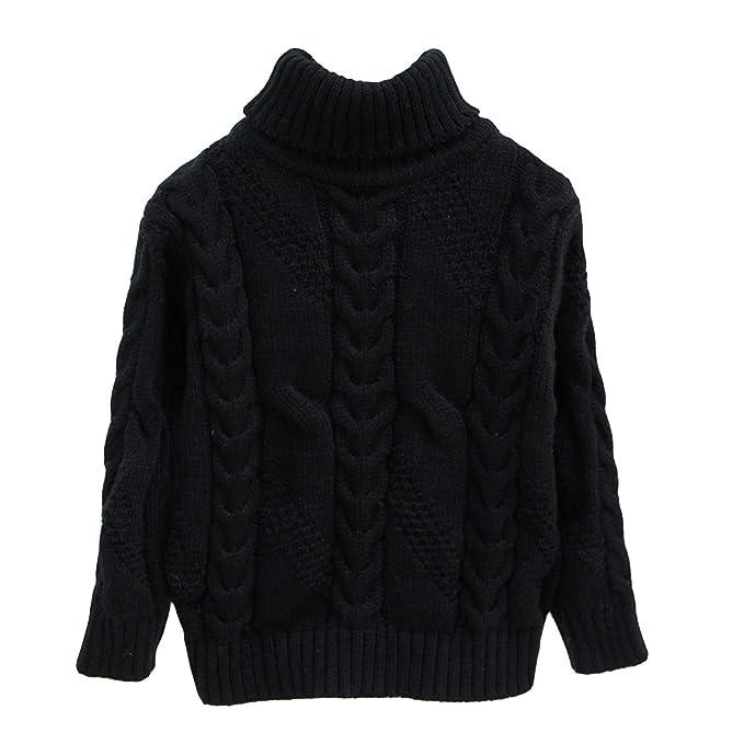 f91adb1ad Amazon.com  OUYAJI Girls Boys Turtleneck Long Sleeves High Neck ...