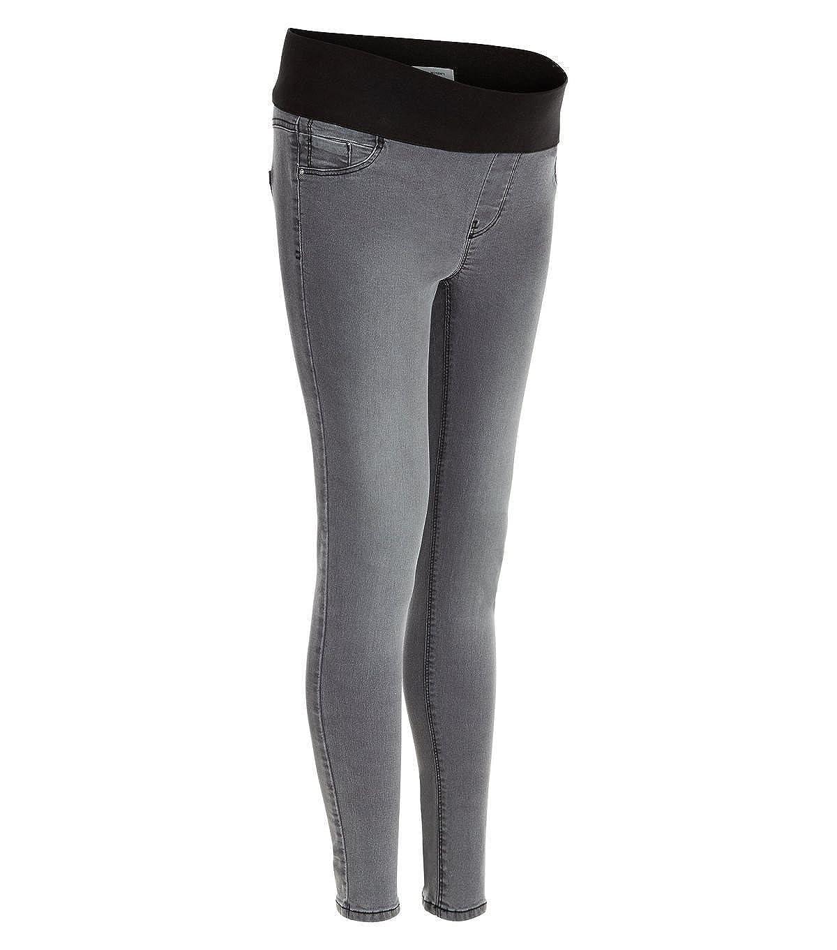 Ladies Ex New Look Maternity Grey Under Bump Skinny Jeans