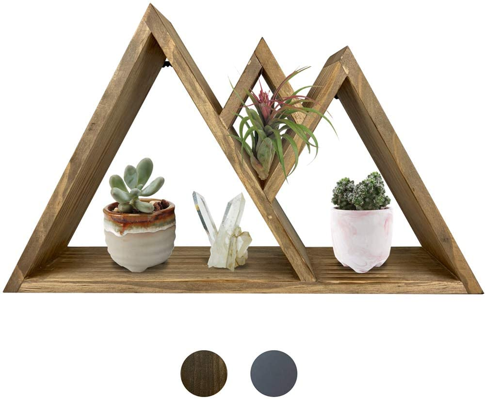 Majestic Mountain Floating Shelf - Rustic Shelves & Wood Shelf for Mountain Decor, Cabin Decor, Woodland Nursery, Nursery Wall Decor, Rustic Bedroom Decor