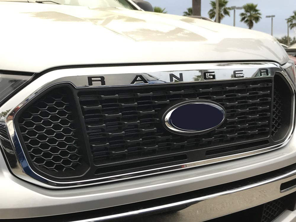 LimitlessParts for 2019 Ranger Black Grill Letters Inserts ABS Plastic NOT Thin Decals