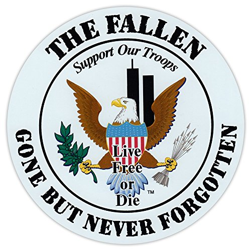 Round Magnet - Honor The Fallen, Live Free or Die - Support Our Military Troops - 5.25