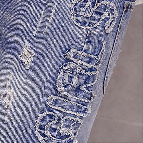Haute pour Jupe Blue Taille Femme YUCH Mi Longue 1zIqwq6X