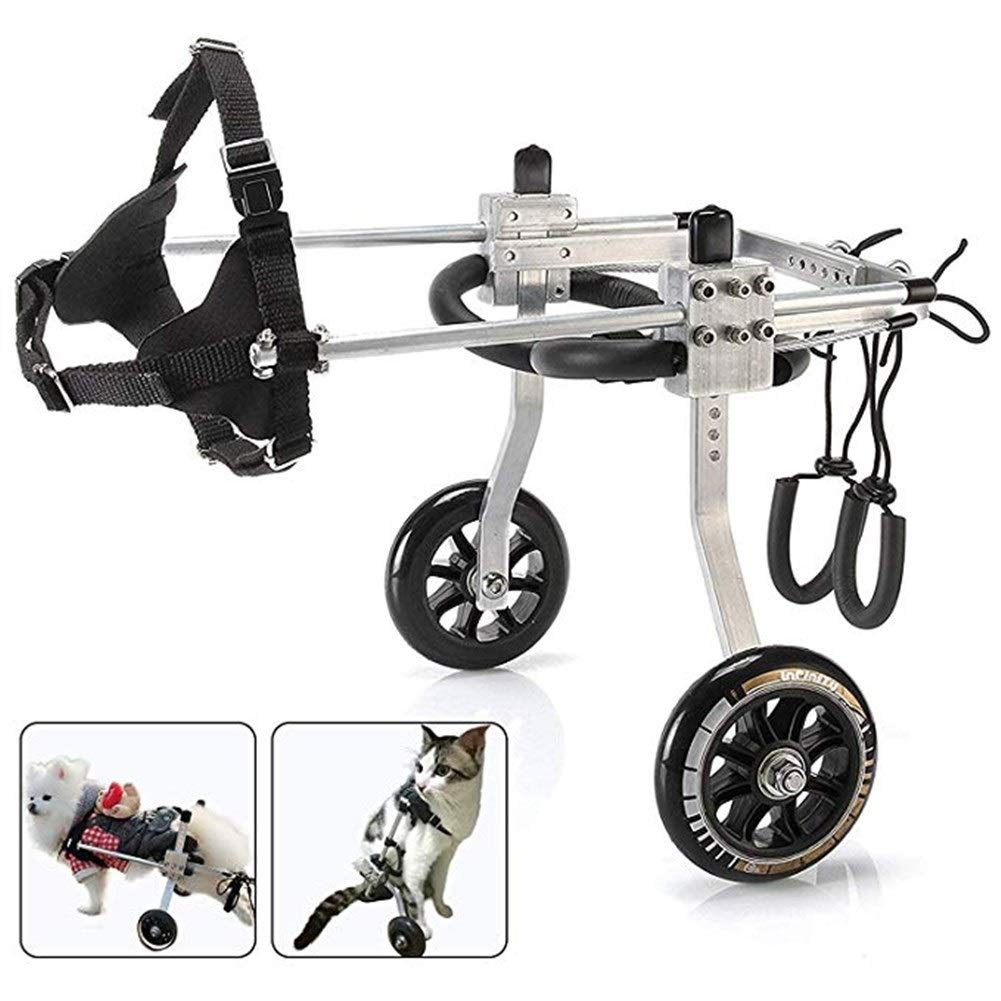 LMCWLY Dog Wheelchair, Hind Leg Rehabilitation Training Scooter, Rehabilitation Assistance for Aged Dogs/Cats/Pets, Two Sizes (Size : M-2) by LMCWLY