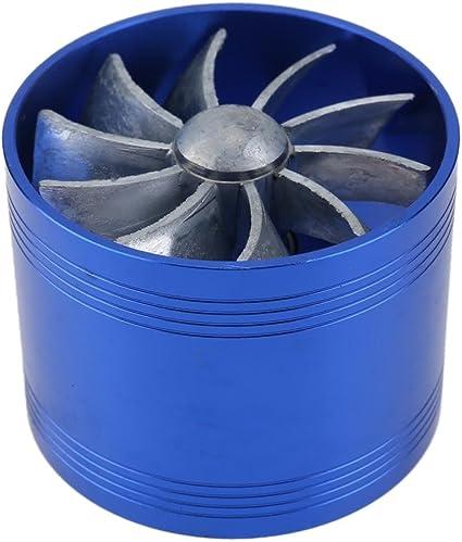 Ventilador doble de la turbina Ventilador del ahorrador Reabastecimiento de turbina de turbo Cargador de aire de ...