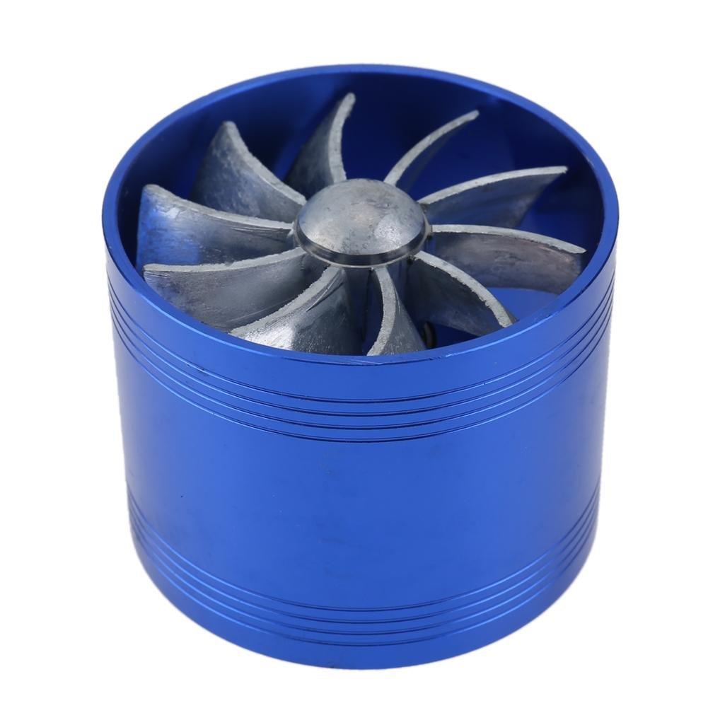 ventilateur Double de la Turbine ventilateur du /économiseur avitaillement de Turbine de Turbo chargeur dair dAdmission dair ventilateur d/économie de carburant/ /matefielduk