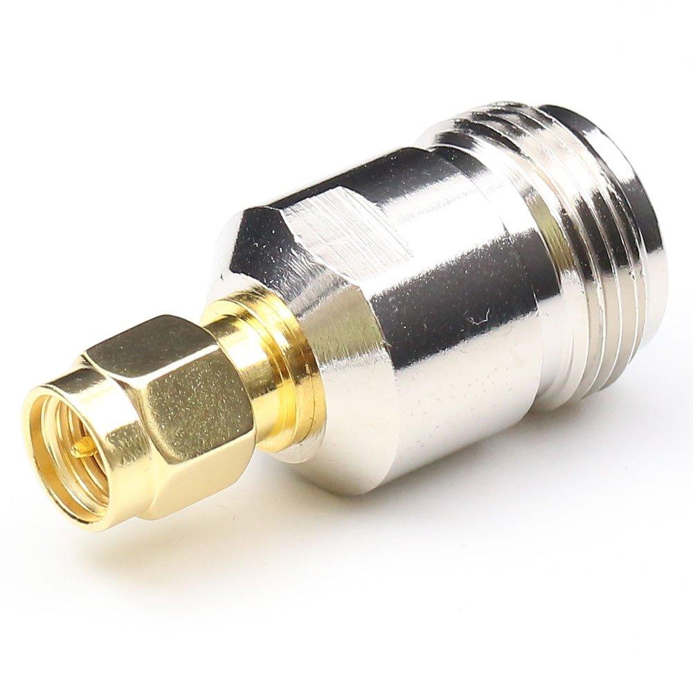 anhan RF adaptador coaxial Coaxial conector SMA macho a N hembra adaptador conector SMA F/M Cable recto conector N hembra a macho SMA Plug adaptador Wi-Fi 2 ...