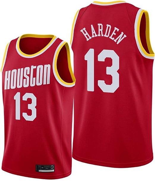 NBALL-HU Hombres Houston Rockets 13# Harden Red Baloncesto Jersey ...