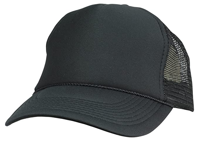 66178b96c8c DALIX Plain Trucker Hat in Black at Amazon Men s Clothing store ...