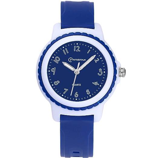 Los Niños Relojes Los Relojes Deportivos Analógicos Impermeables para Los Niños y Las Niñas Relojes Los