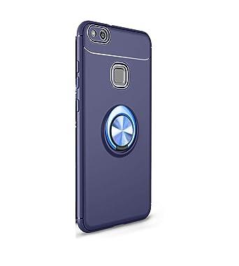 Jancyu compatible con Funda Huawei P10 Lite Carcasa 360 grados Protección Huawei P10 Plus Silicona Suave Shell Magnetic Car Mount Anti-Rasguño choque ...