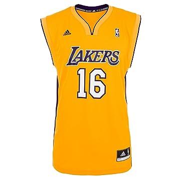 Adidas Camiseta Ángeles Lakers 1ª -Gasol-: Amazon.es: Deportes y aire libre