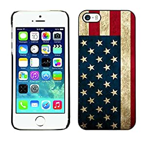 For iPhone 5 / 5S - Usa American Flag Stars Stripes /Modelo de la piel protectora de la cubierta del caso/ - Super Marley Shop -