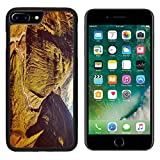 MSD Premium Apple iPhone 7 Plus Aluminum Backplate Bumper Snap Case Vintage retro effect filtered hipster style travel image of Himalayan valley in Himalayas Lahaul valley Himachal Pradesh India IM