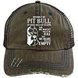 Without My Pit Bull Knit Cap, My Wallet Would Be Full Hat (Trucker Cap - Brown)