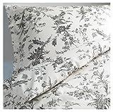 Ikea Alvine Kvist 2pc Twin Duvet Cover 100 Pecent Cotton Sateen Floral