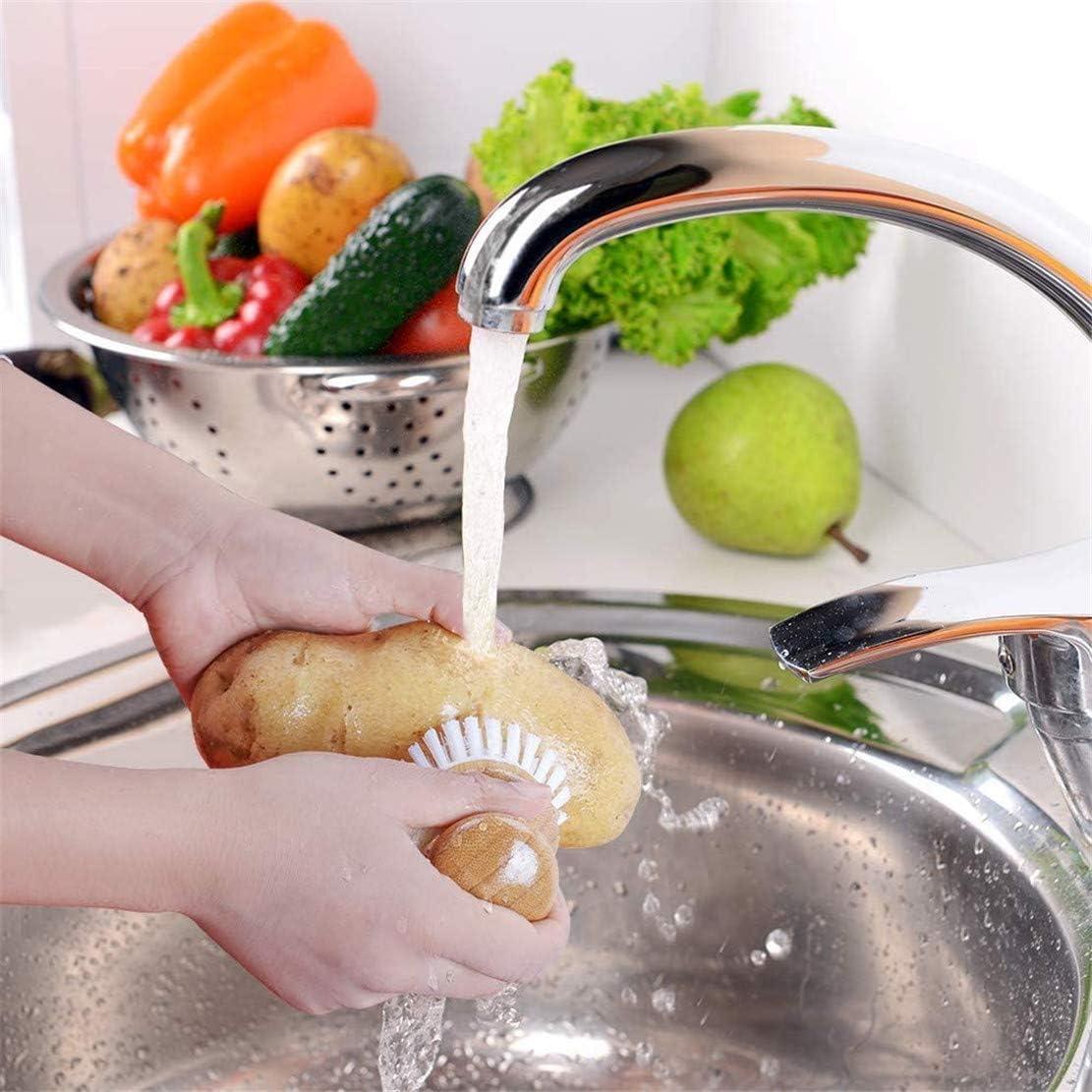 in bamb/ù per padelle in ghisa Spazzola per piatti pulizia della casa 2 pezzi lavello da cucina con setole di cocco KY-Tech bagno