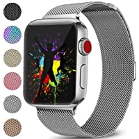 DaQin Bands Compatible with Apple Watch Band 38mm 40mm 42mm 44mm for Women and Men, Milanese Metal Magnetic Mesh Loop Wristbands for Apple iWatch Series 4 Series 3/2/1