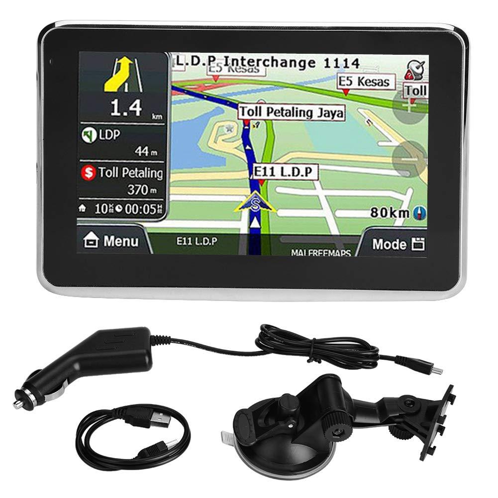 EBTOOLS Navigateur GPS de Voiture Navigator GPS Universel à écran Tactile de 5 Pouces 256Mo 8GB MP3 FM Carte Europe 508