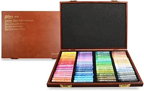 Mungyo Gallery Soft Oil Pastels Wood Box Set of 72 MOPV-72W Assorted Colors