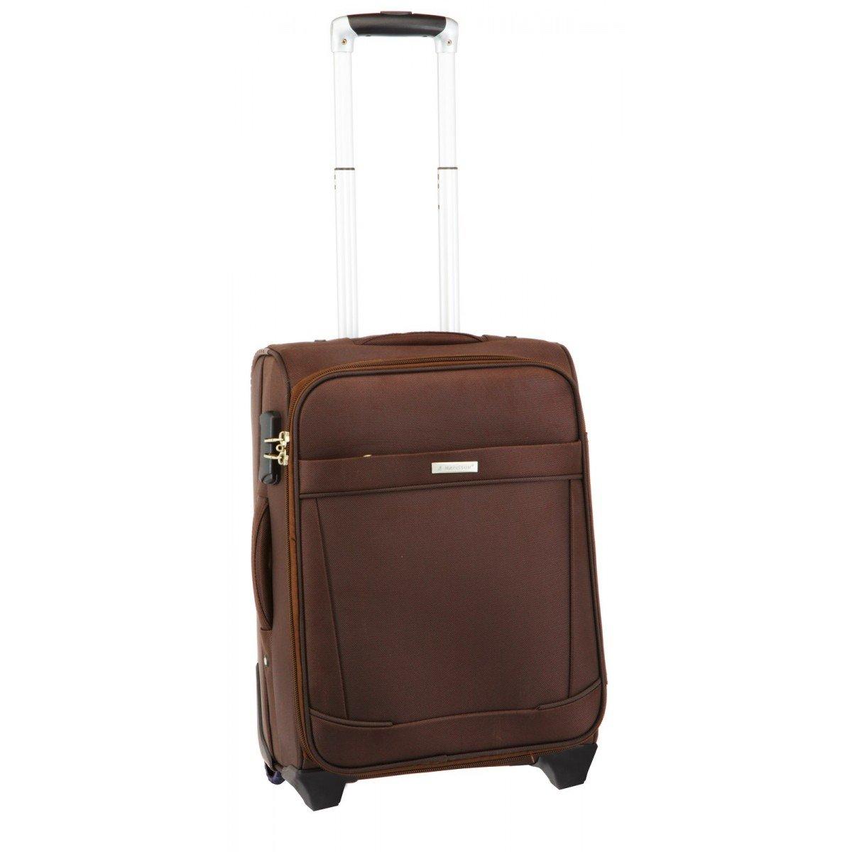 Juego de 3 maletas de Lisboa carrito Marrón marrón talla única: Amazon.es: Equipaje