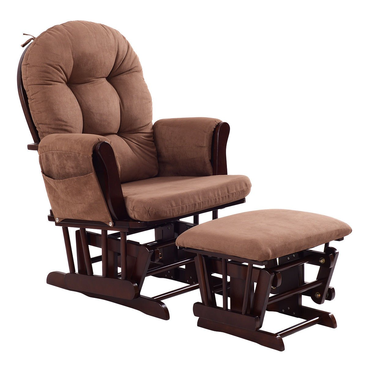 Costzon Baby Glider and Ottoman Cushion Set (Brown)