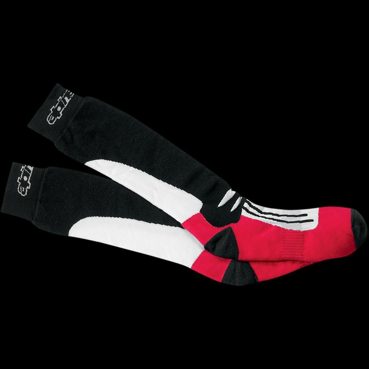 Alpinestars Road Racing Socks - Mid-Calf Length , Size: Sm-Md, Size Modifier: 7-9, Gender: Mens/Unisex, Primary Color: Black 470308-30-SM