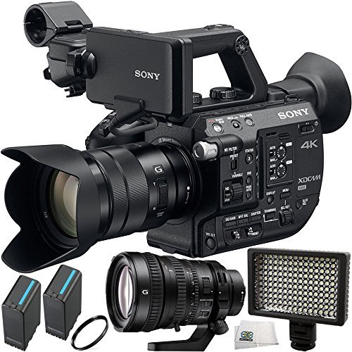 Sony PXW-FS5 XDCAM Super 35 Camera System with Sony E PZ 18-105mm f/4 G OSS Lens & Sony FE PZ 28-135mm f/4 G OSS Lens + 5PC Accessory Kit by SSE