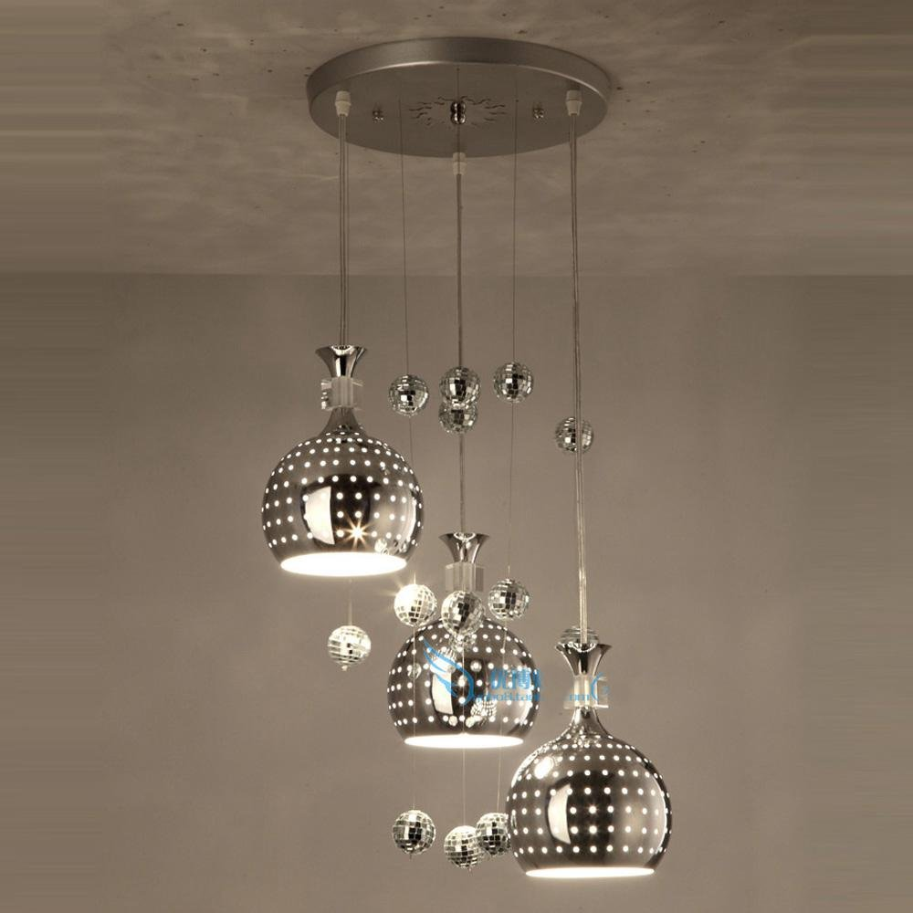 3W x 3 luci tazza chiara lampada a sospensione Wineglass LED ...