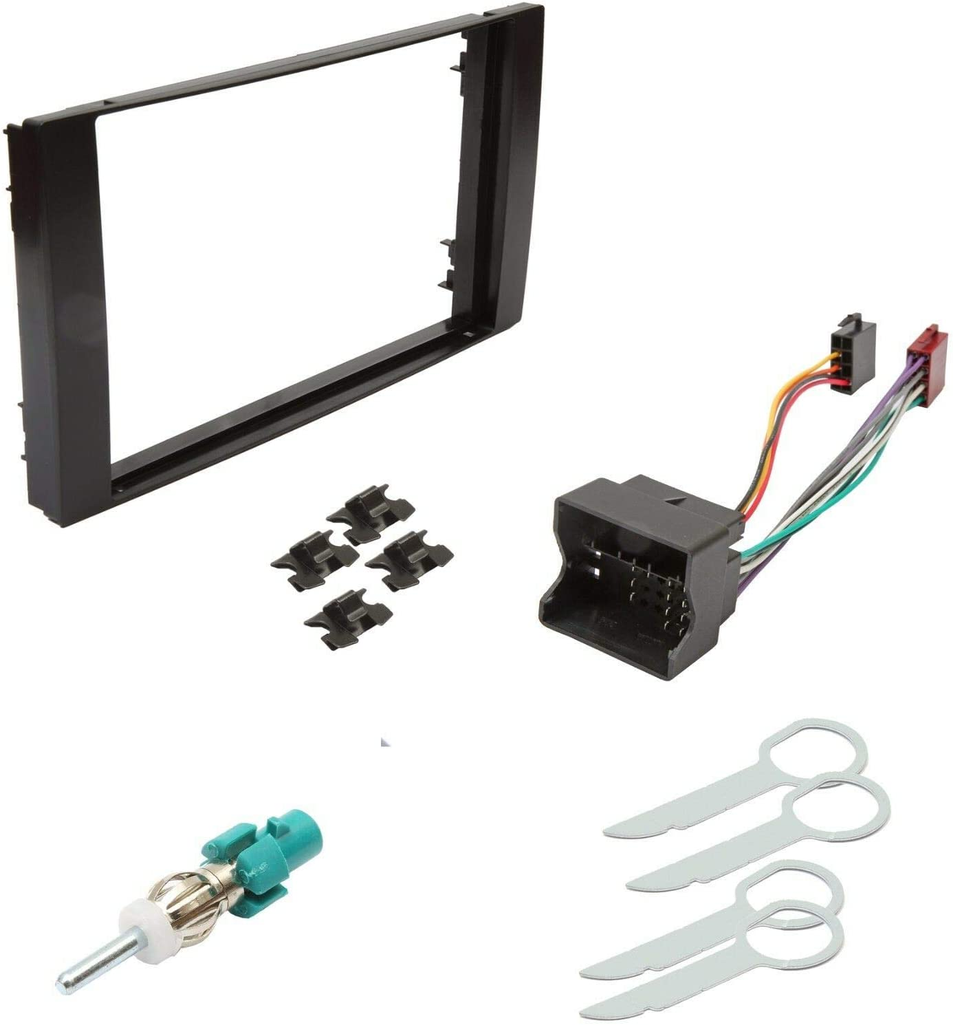 Ford Transit /& S-Max Double Din Fascia Panel Adapter Plate Cage Fitting Kit