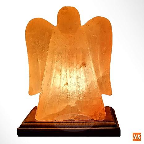 Lámpara de sal del Himalaya | Forma de ángel | 2-3 KG con cable y ...