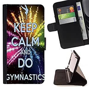 Jordan Colourful Shop -Gymnastics -- Leather Case Absorci¨®n cubierta de la caja de alto impacto FOR Samsung Galaxy S4 Mini i9190 I9192 ---