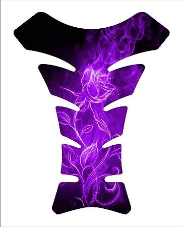 Amazon.com: Flaming rose purple flower Tankpad Kawasaki ...