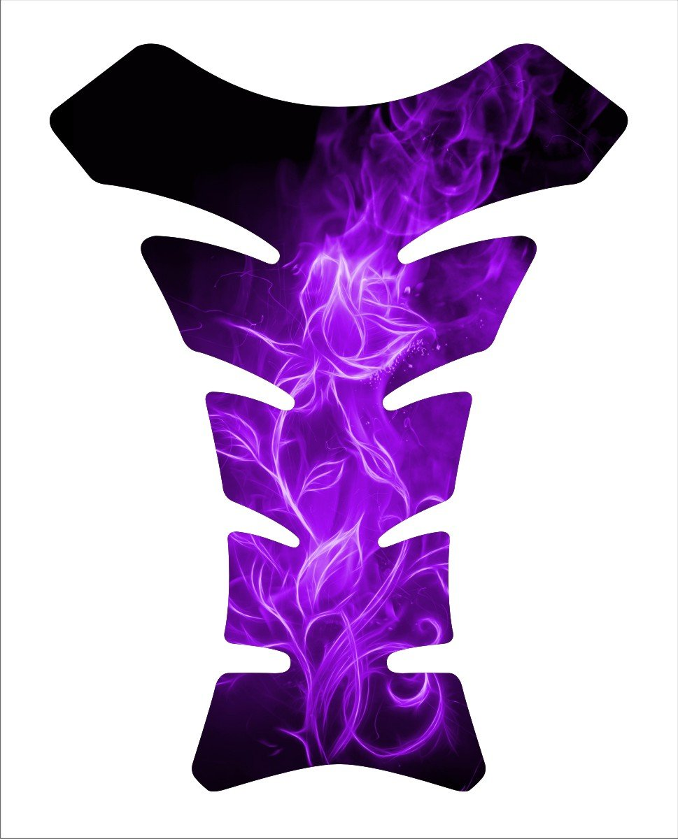 Flaming Rose Purple Flower Motorcycle Tankpad Kawasaki Ninja ZX Suzuki GSXR Honda CBR Yamaha YZF Motorcycle TanK pad Gel Decal